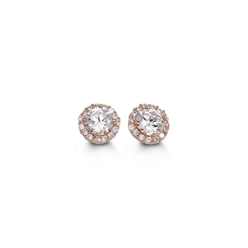 Richardson Signature Cubic Zirconia Halo Stud Earrings