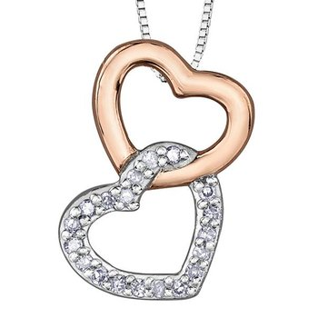 Interlocking Heart Pendant
