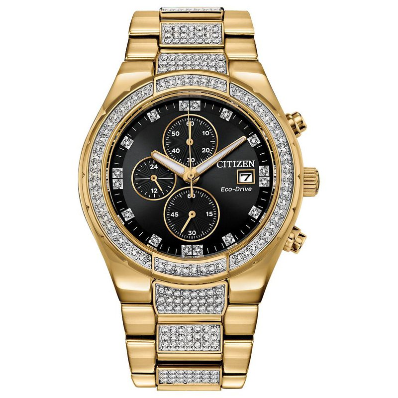 Citizen Men's Eco-Drive Watch- Crystal