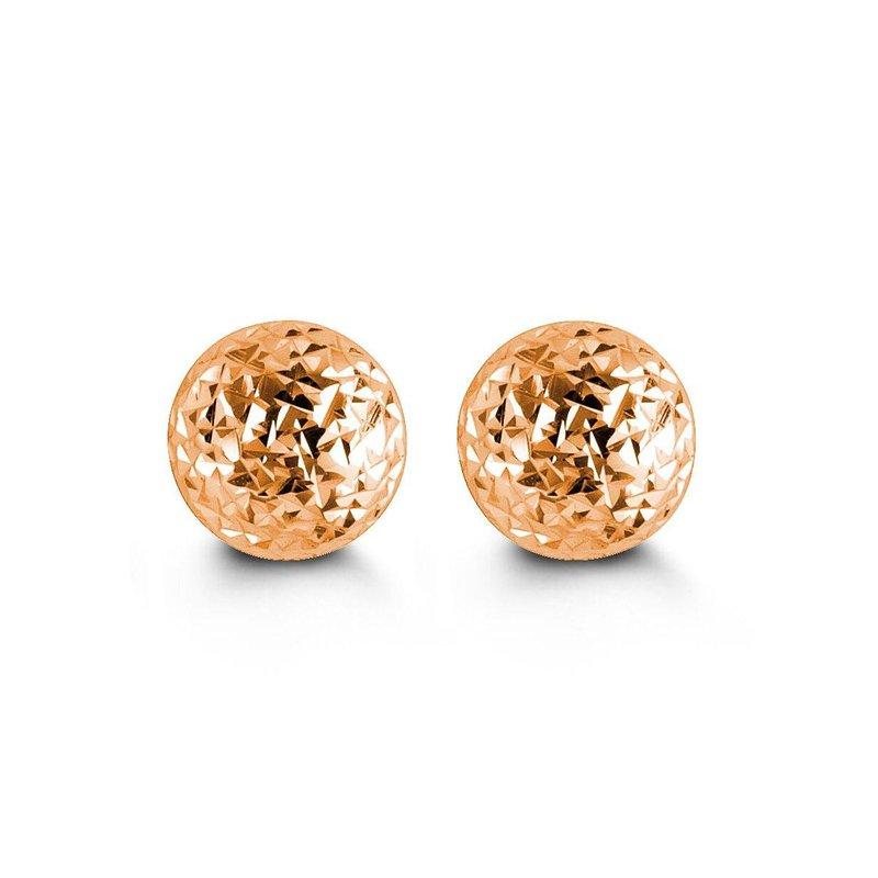 Richardson Signature Rose Gold Ball Earrings