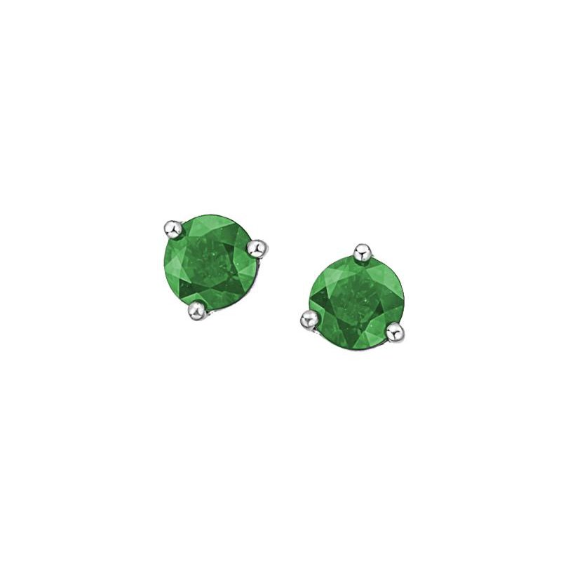 Diamond Days Emerald Studs