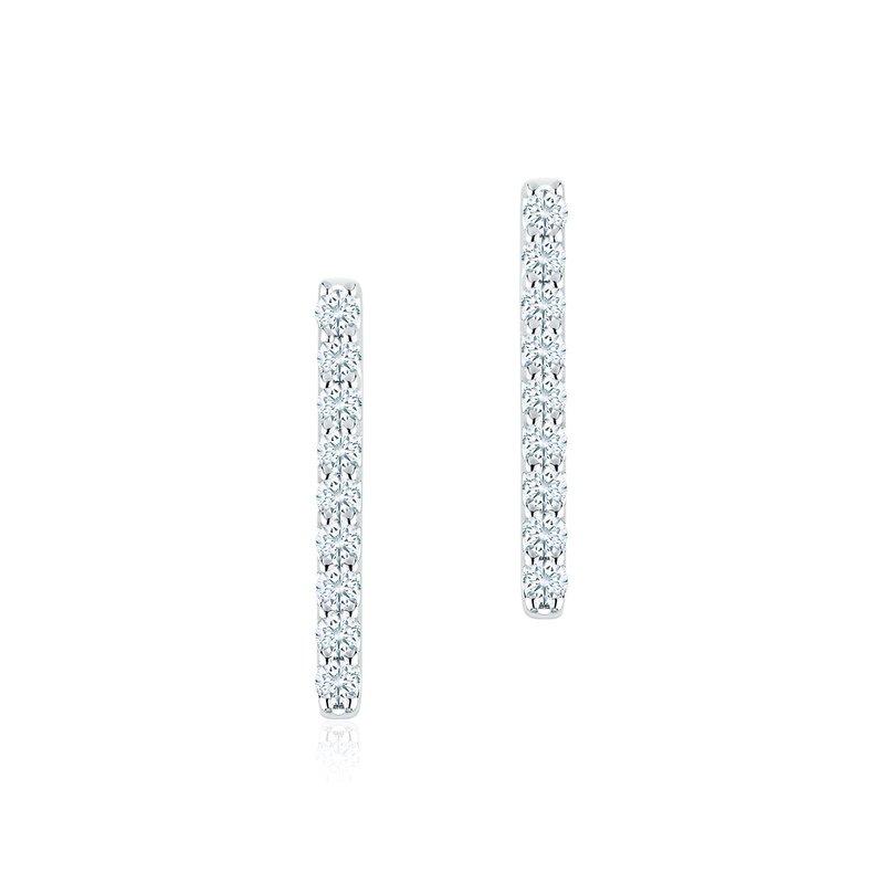 Bijoux Birks BIRKS ROSÉE DU MATIN Diamond Bar Earrings