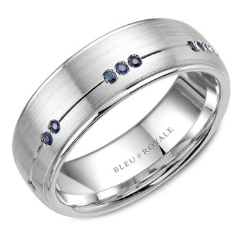 Bleu Royale Men's Wedding Band RYL-011WS75
