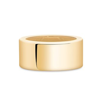BIRKS ESSENTIALS 10mm Yellow Gold Square Band Ring