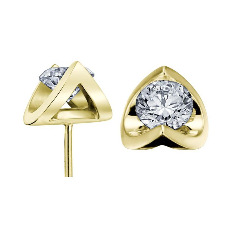 Maple Leaf Diamonds 1.00CTW Canadian Diamond Solitaire Earrings