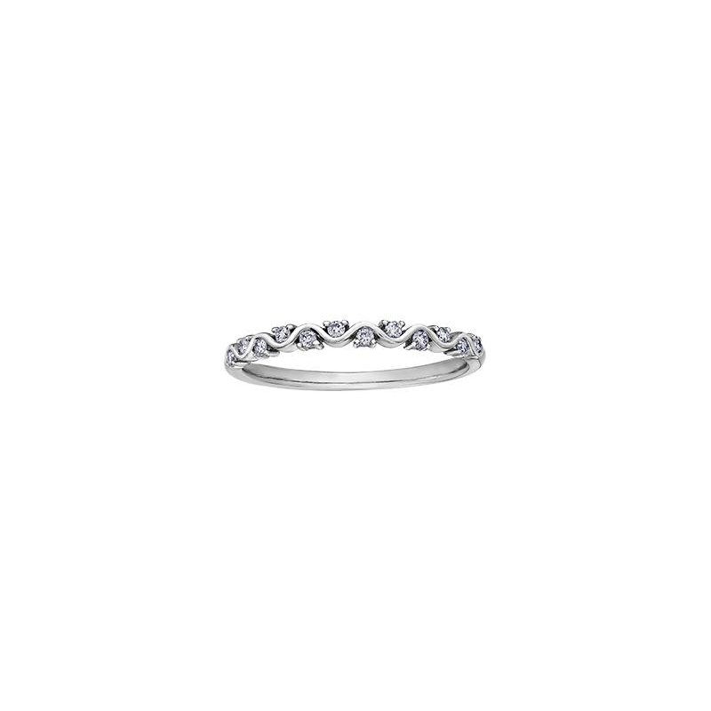 Diamond Days White Gold Diamond Stacking Ring
