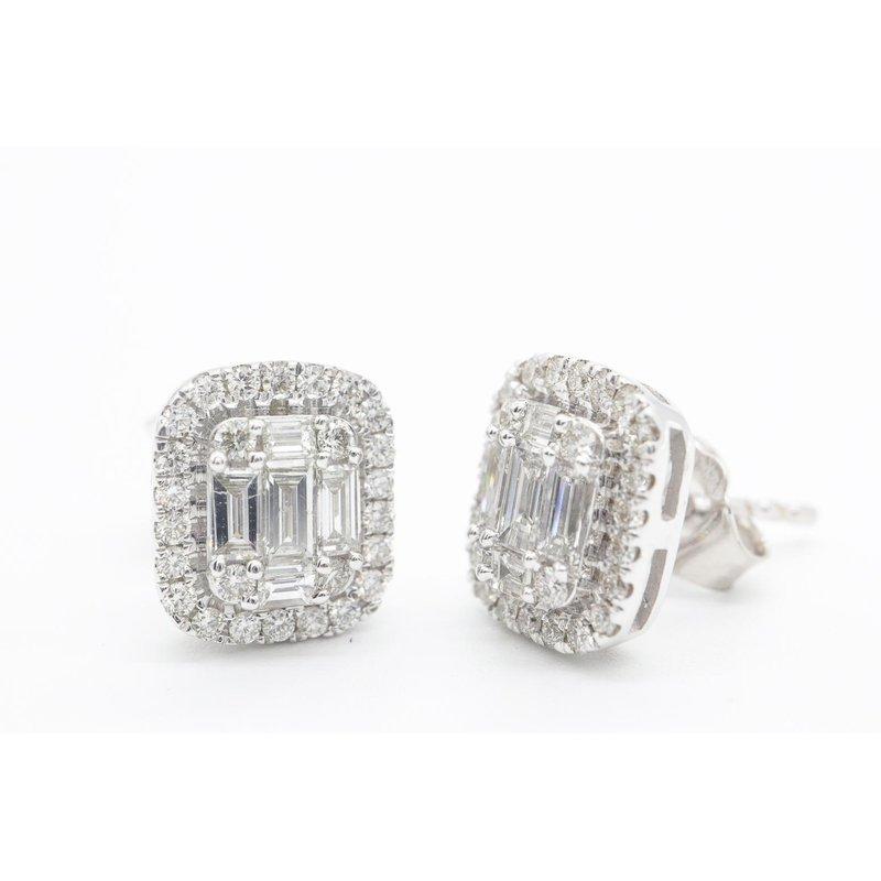 Natalie K Baguette Diamond Studs