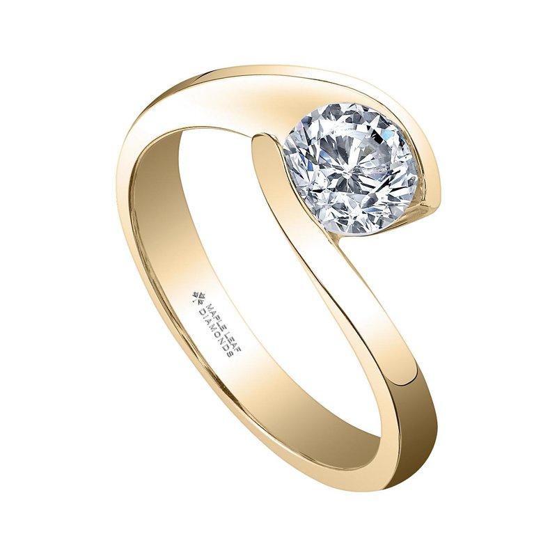 Maple Leaf Diamonds 0.70CT Solitaire Ring