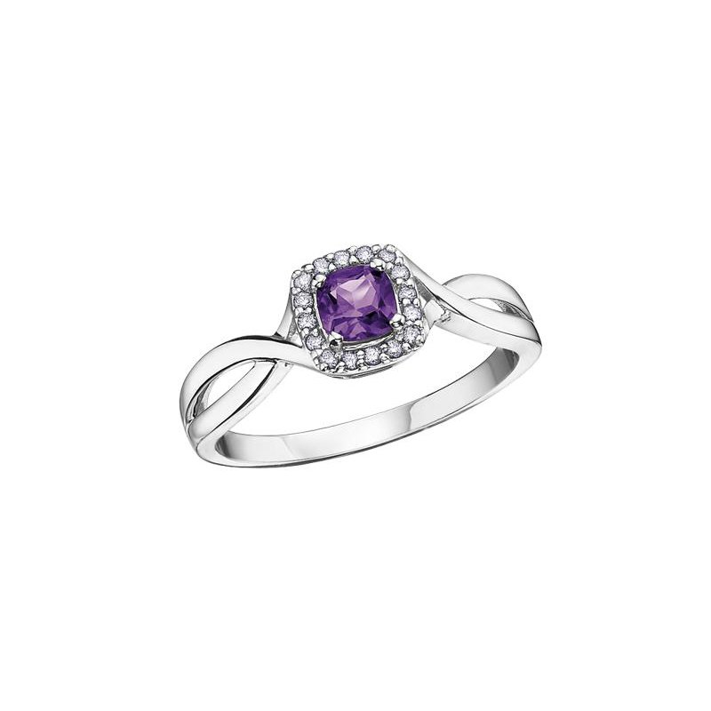Diamond Days Amethyst & Diamond Ring