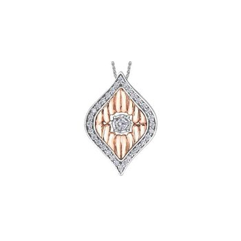 Two-Toned Diamond Pulse Pendant