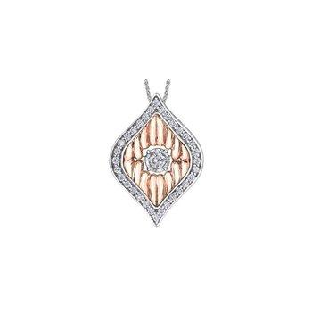 Two-Toned Diamond Pulse Pendant