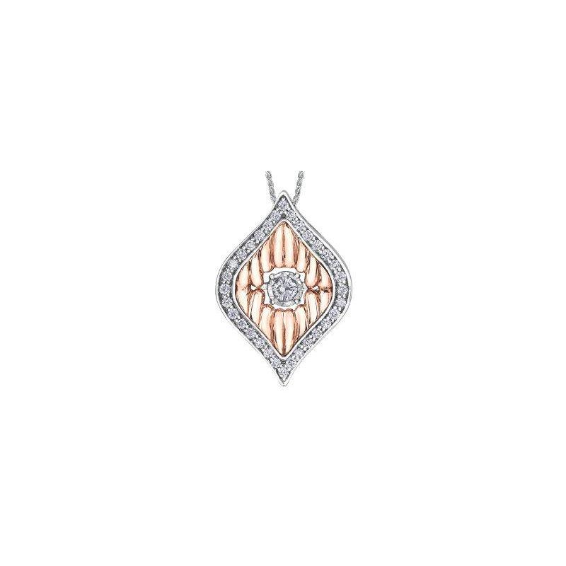 Diamond Days Two-Toned Diamond Pulse Pendant