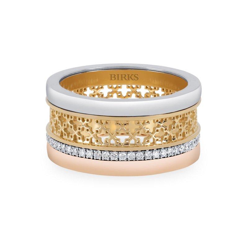 BIRKS Dare To Dream Tri-Gold Ring