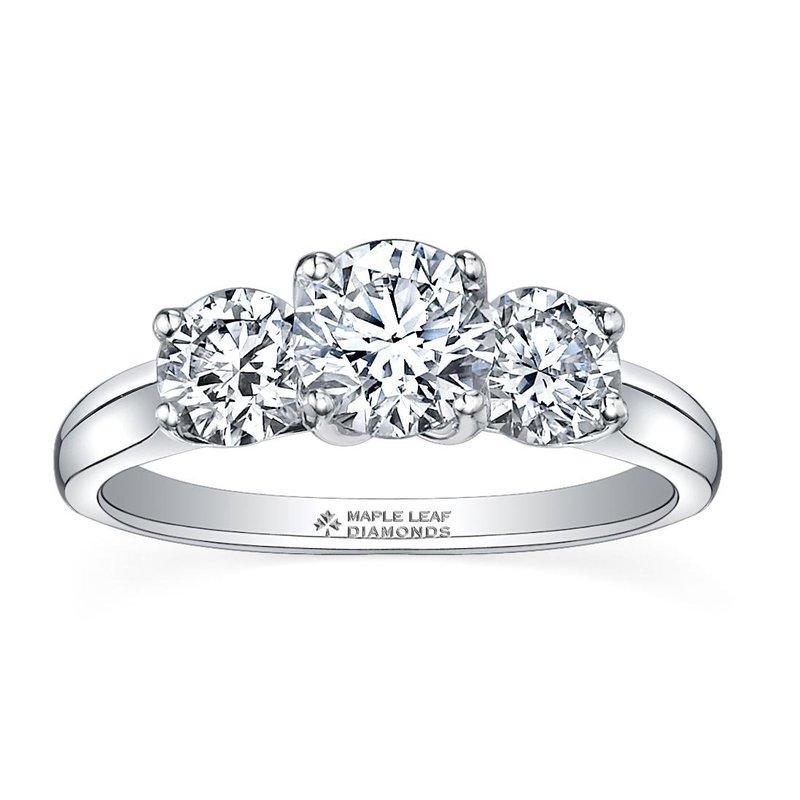 Maple Leaf Diamonds 0.75CTW Three Stone Diamond Ring