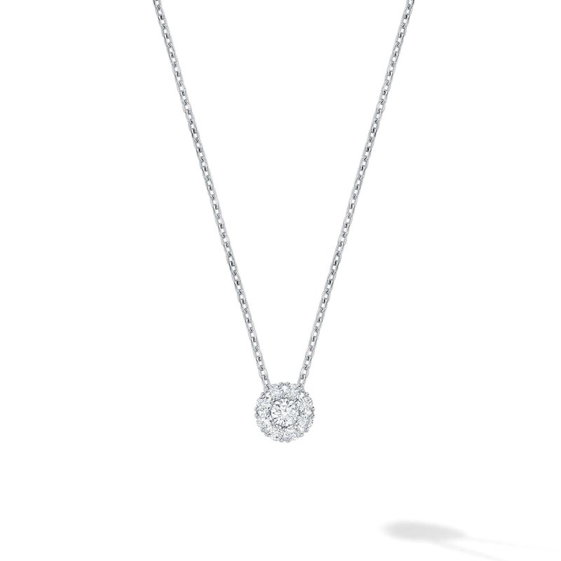Bijoux Birks BIRKS SNOWFLAKE Round Diamond Pendant