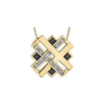 White & Black Diamond Pendant
