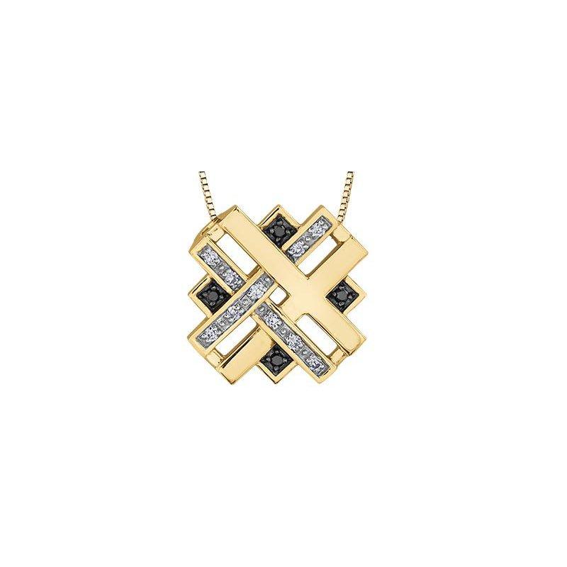 Diamond Days White & Black Diamond Pendant