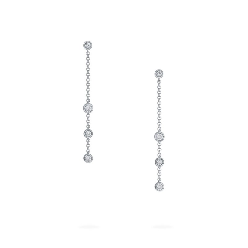 BIRKS SPLASH- Diamond Long Drop Earrings