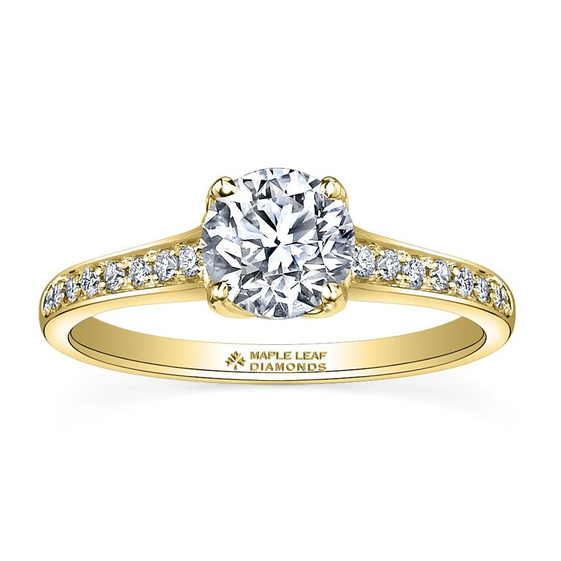 Maple Leaf Diamonds Yellow Gold Canadian Diamond Ring