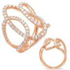 S.KASHI Rose Gold Diamond Ring