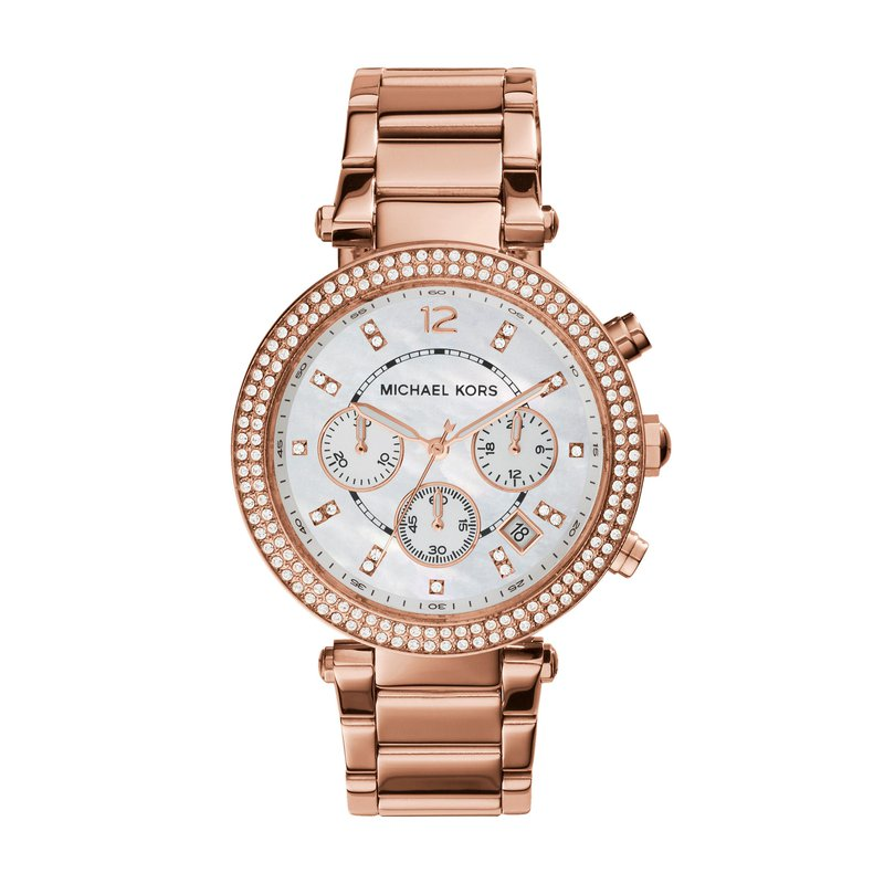 Michael Kors Parker Pavé Chronograph Watch