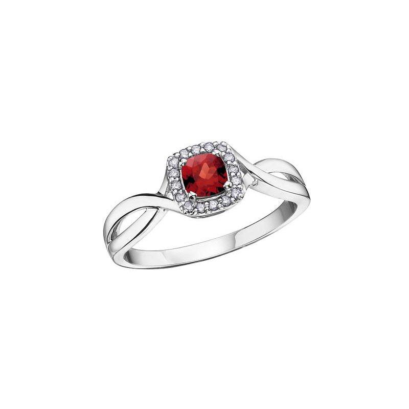 Diamond Days Garnet & Diamond Ring