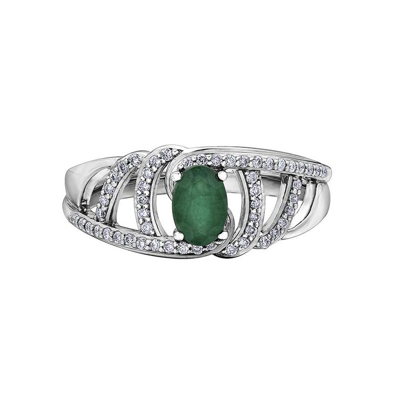 Diamond Days Emerald & Diamond Ring