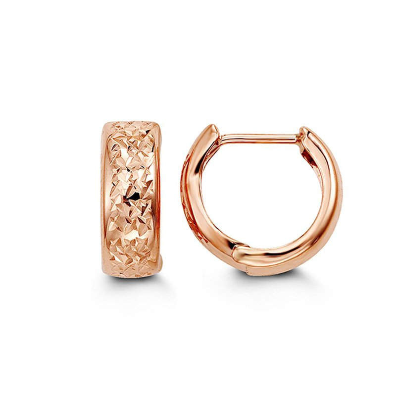 Richardson Signature Rose Gold Huggies
