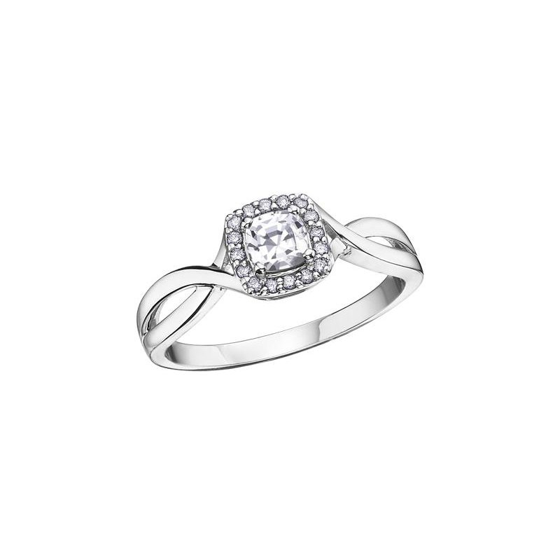 Diamond Days White Zircon & Diamond Ring