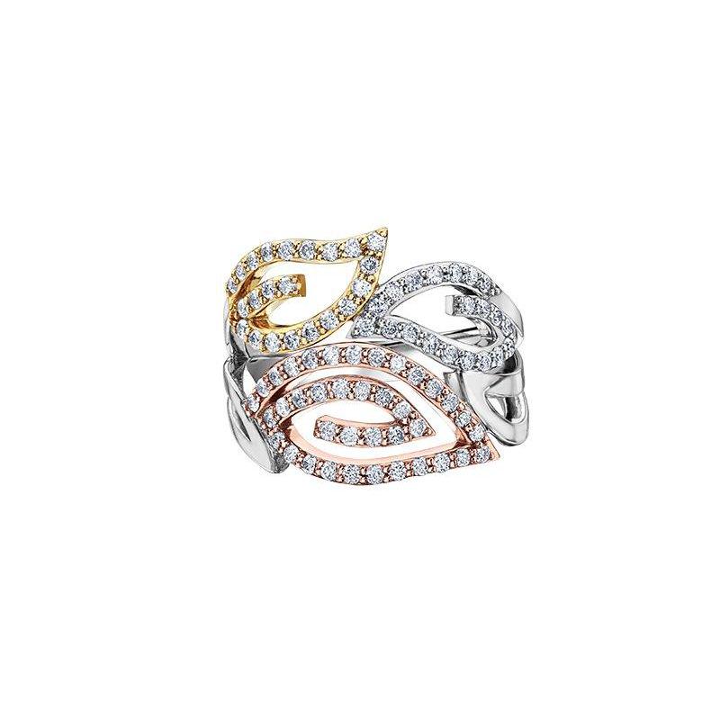Diamond Days Tri- Gold Diamond Ring