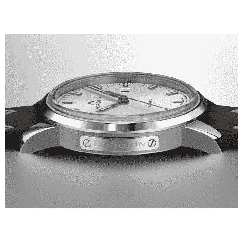 NORQAIN Freedom 60 Auto Steel Silver Dial Shark Norlando Strap