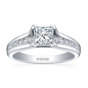 1.02CT Princess-Cut Engagement Ring