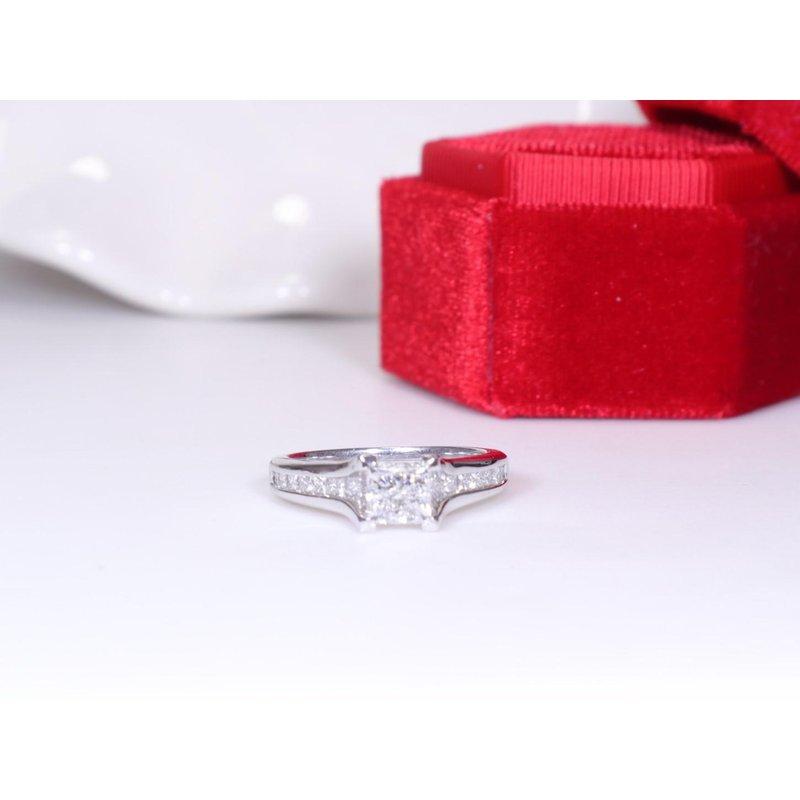 Maple Leaf Diamonds 1.02CT Princess-Cut Engagement Ring