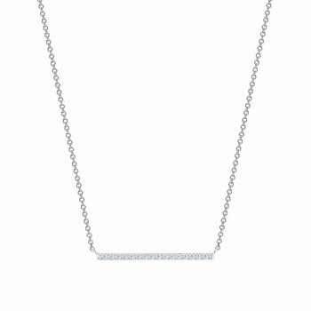 ROSÉE DU MATIN- Horizontal Diamond Bar Necklace