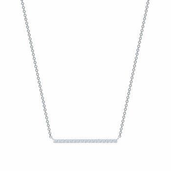 BIRKS ROSÉE DU MATIN- Horizontal Diamond Bar Necklace