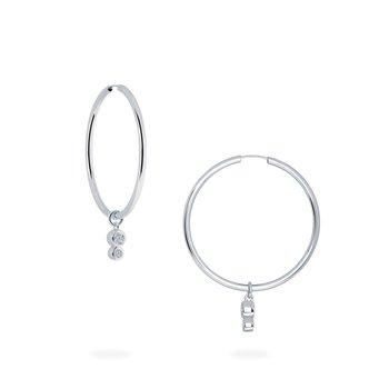 SPLASH- Diamond Hoop Drop Earrings