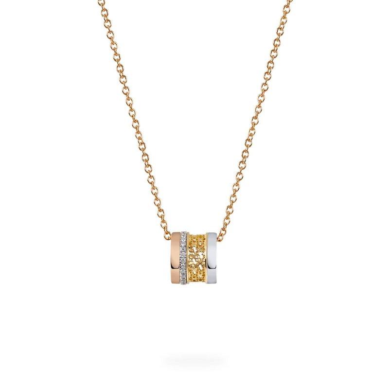 BIRKS DARE TO DREAM- Tri-Gold Diamond Pendant Necklace