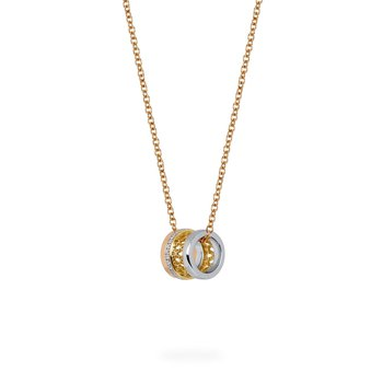 DARE TO DREAM- Tri-Gold Diamond Pendant Necklace