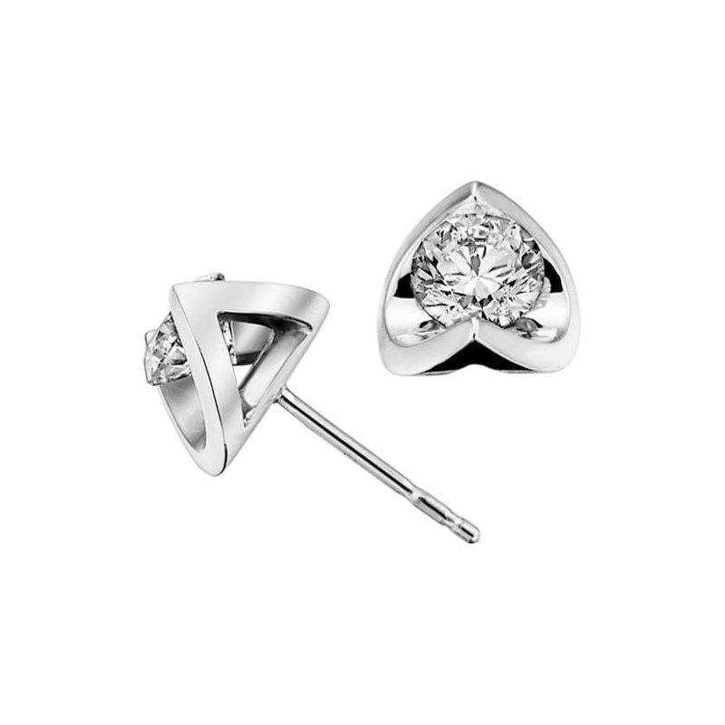 Maple Leaf Diamonds 0.10CTW Canadian Diamond Solitaire Earrings