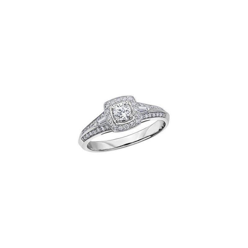 Maple Leaf Diamonds White Gold Halo Diamond Ring
