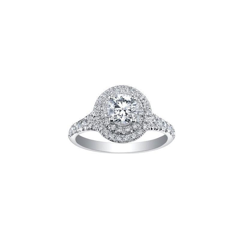 Maple Leaf Diamonds Double Halo Diamond Engagement Ring