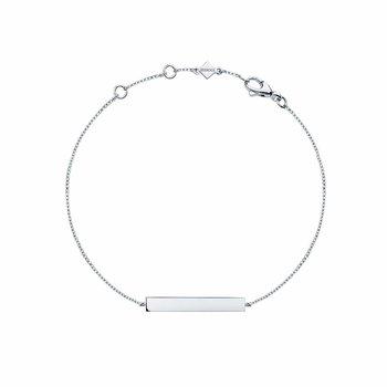Silver Horizontal Bar Bracelet
