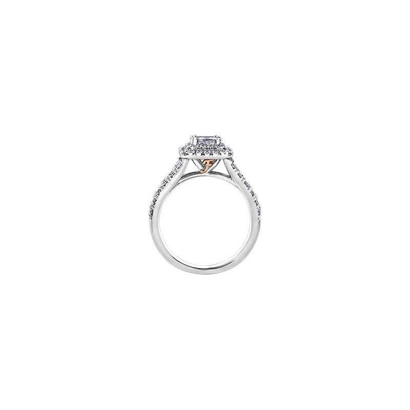 Maple Leaf Diamonds Princess-Cut Halo Engagement Ring