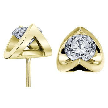 0.10CTW Canadiand Diamond Solitaire Earrings