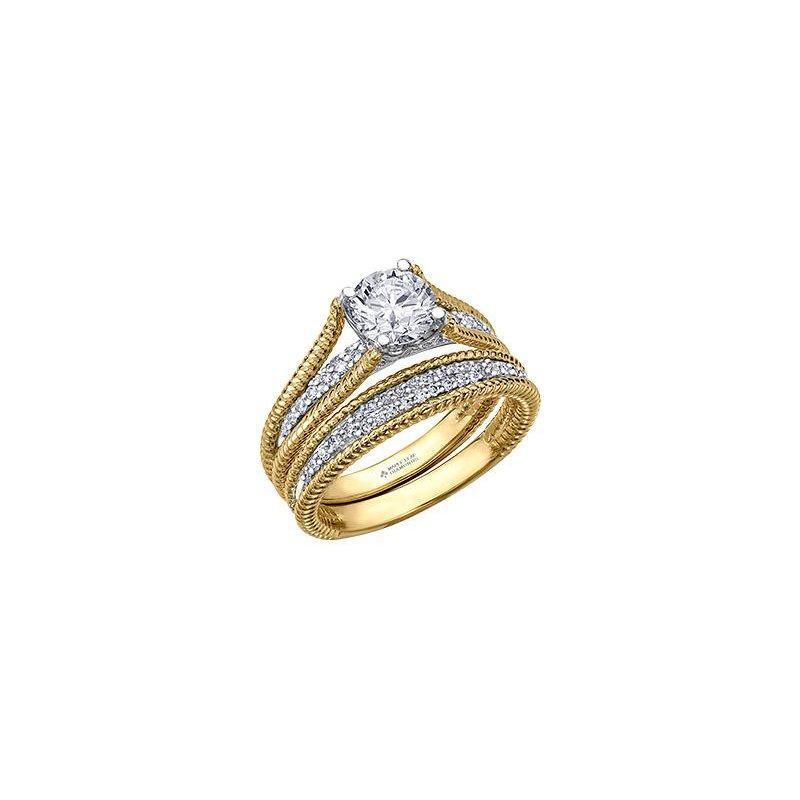 Maple Leaf Diamonds Yellow Gold Diamond Engagement Ring