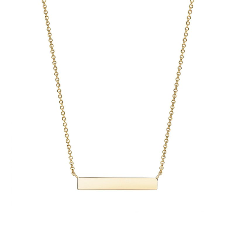 BIRKS Horizontal Gold Bar Necklace
