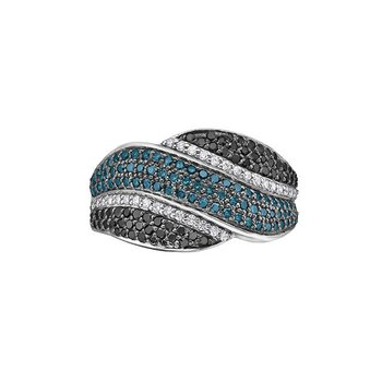 Colored  Diamond Anniversary Band