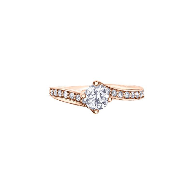 Maple Leaf Diamonds Rose Gold Engagement Ring