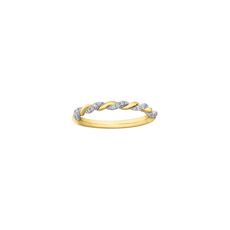 Diamond Days Two-Toned Twisted Stacking Band