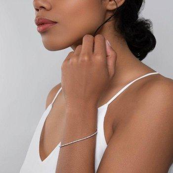 BIRKS ROSÉE DU MATIN ® White Gold and Diamond Line Bracelet